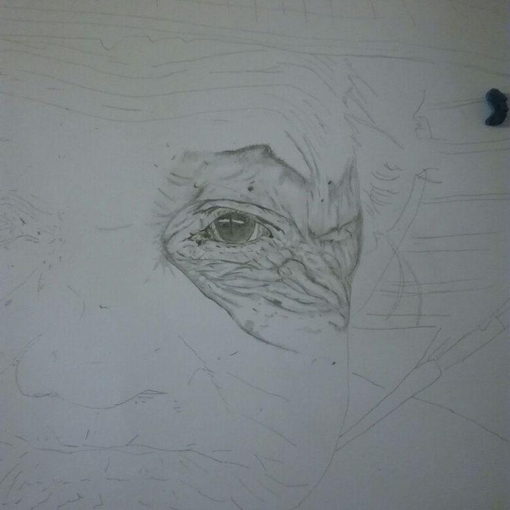 Working on a old woman  50x65 cm #art #artist  #fineart  #portrait #oldwoman #pencil #drawing #artwork