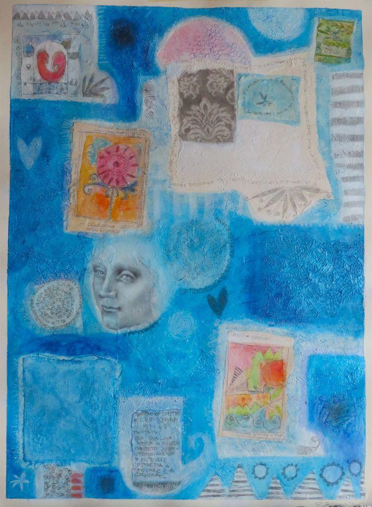 """""""vecchie storie""""   tecnica mista su carta  cm 50x70 #cristianabrondi"""