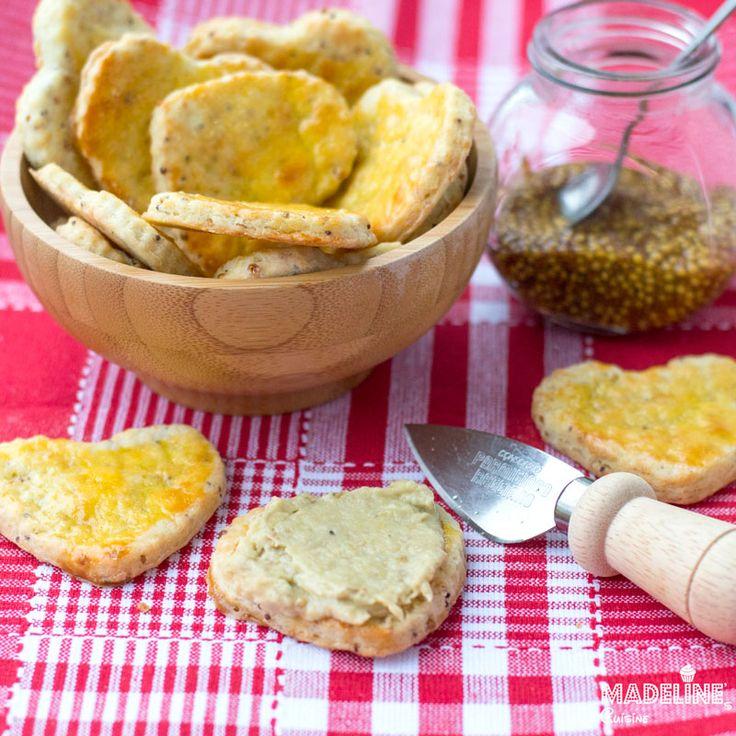 Biscuiti sarati cu mustat / Mustard crackers