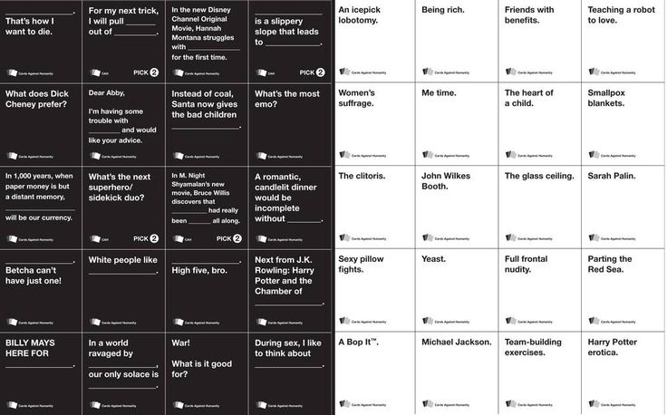 Cards Against Humanity is the perennially sold out, CC-licensed card-game that turns madlibs into an anti-social exercise. Description from ursaspawsclaws.blogspot.com. I searched for this on bing.com/images