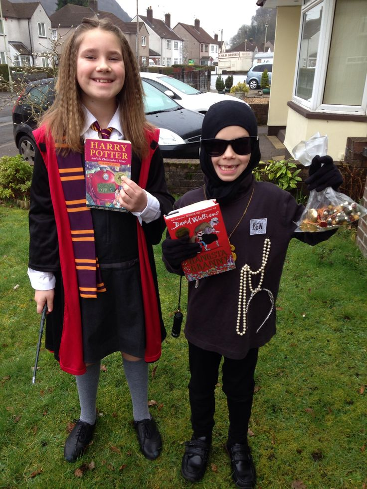 Hermione Granger and Ben from Gangsta Granny costume for World Book Day 2014