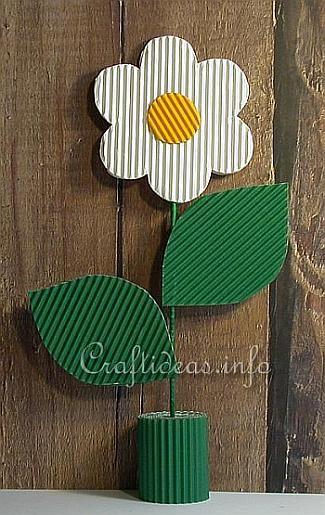 Corrugated Cardboard Daisy Table Decoration 375