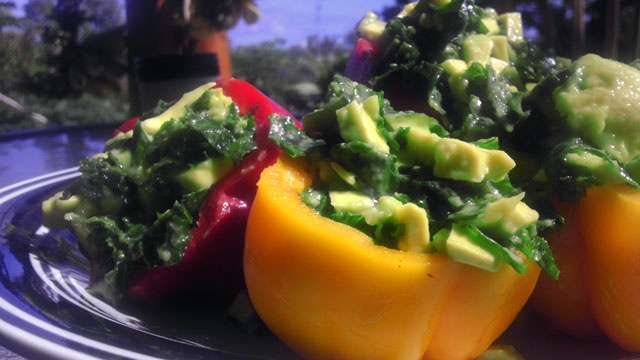Raw Vegan StuffedPeppers... These look so GOOD I want to try making some tonight. Im thinking hors d'oeuvres. A bite sized version using the smaller sweet pepper. Mmmm