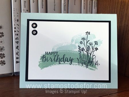 Today I am going to share with you two easy handstamped cards that make a great impression. The first Tuesday of every month I go to Nelson Gables Senior Care Center and stamp cards with the residents. They love to...