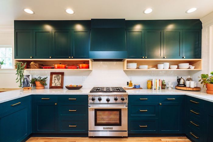 ▷ 1001 + façons originales d'adopter la cuisine bleue