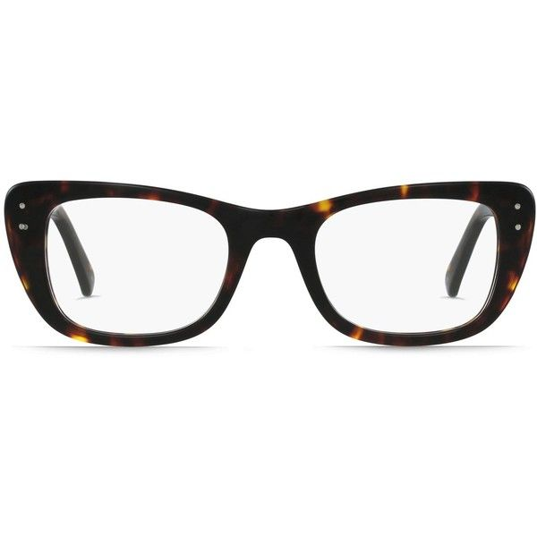 GlassesUSA Joplin Tortoise ($89) liked on Polyvore ...