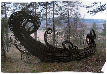 Original Art Work: Environmental Art Sculpture  Artist: Jenni Tieaho  A Bridge over a good dream  material: Willow