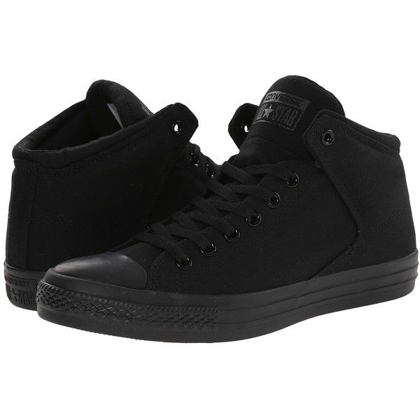 Converse Chuck Taylor(r) All Star(r) High Street Mono Canvas Hi... (€51) ❤ liked on Polyvore featuring shoes, sneakers, converse, black, 18. converse., canvas high tops, black high tops, black canvas shoes, black high top shoes and black canvas high tops