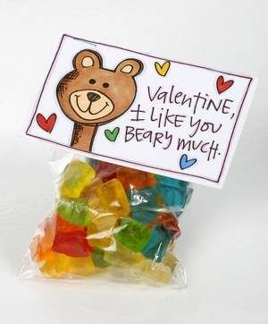 Gummy Bear Border for Paper | Fill a bag with gummy bears and attach the 'I Like You Beary Much ...