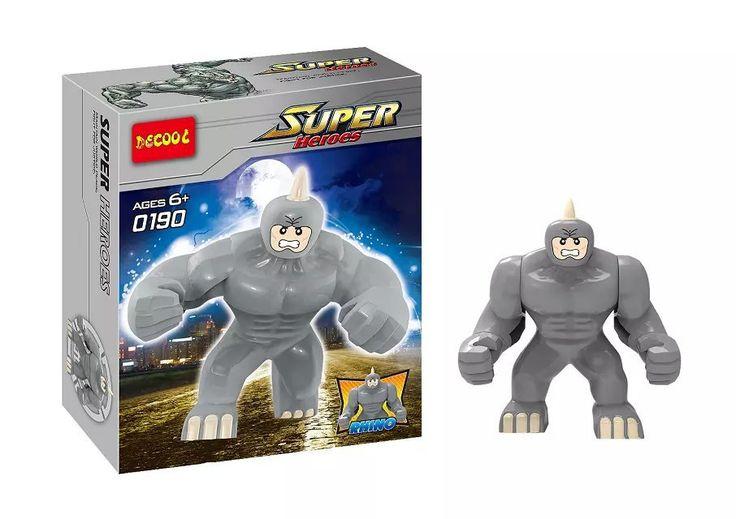 DECOOL 0190 20 Шт. Строительные Блоки Super Heroes Мстители MiniFigures Халк Buster Venom Зеленый Гоблин Большой Ленивый Rhino Кирпичи Цифры