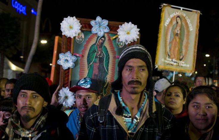 Processione e messe per la Vergine di Guadalupe