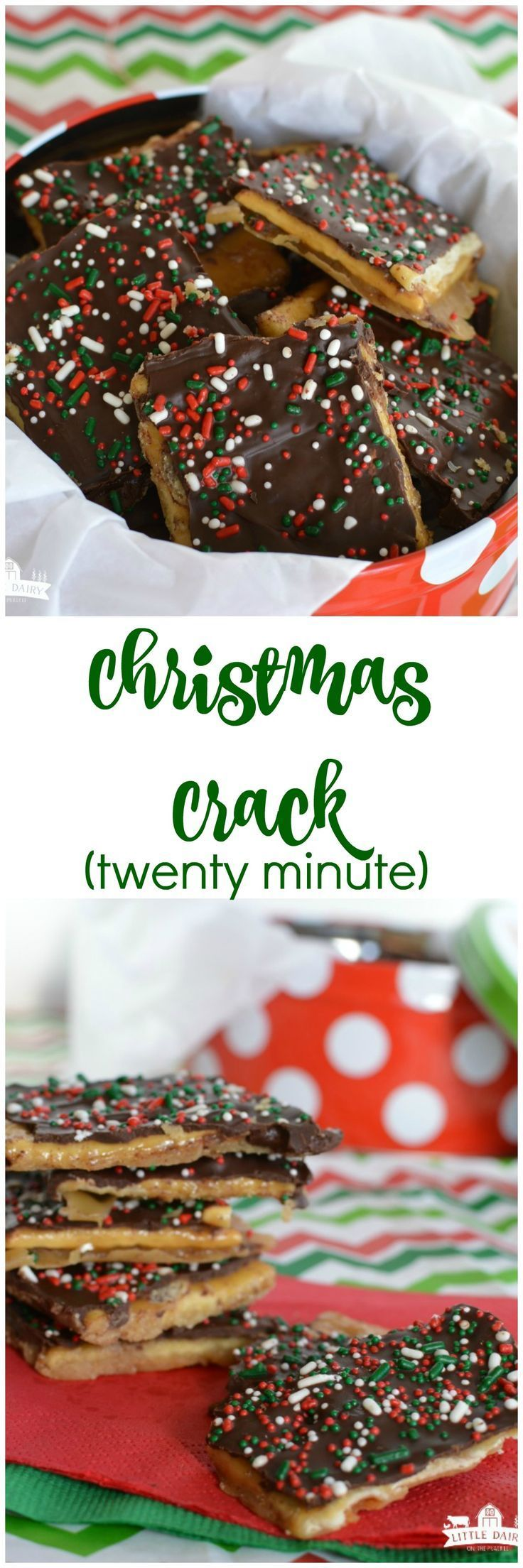 20 Minute Christmas Crack! If you are nervous to make full blown toffee you need to try this. It's only takes five ingredients and even my kids can make it!