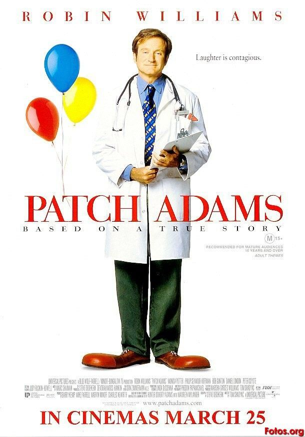 Patch Adams starring the incomparable Robin Williams. Based on a true story.