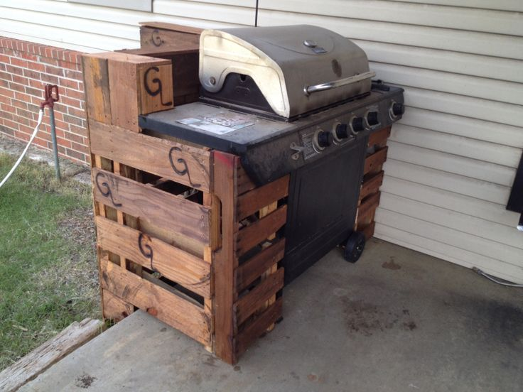 Pallet Grill Cover Pallet Furniture Grill Station Diy
