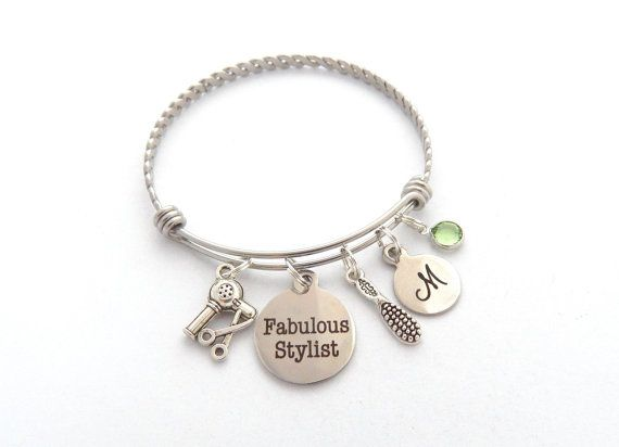 Personalized Hairstylist Bracelet Gifts for by MyBlueSnowflake