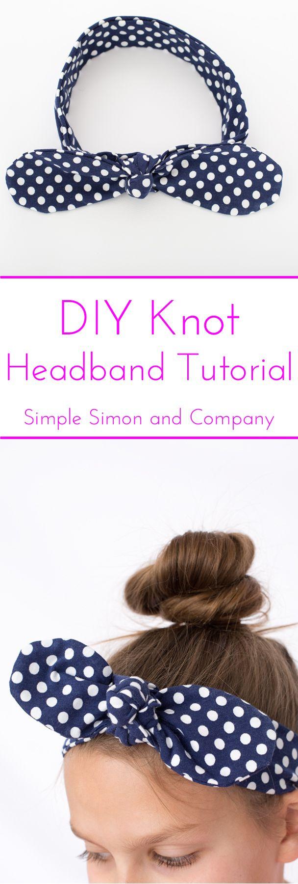 DIY Knot Headband Tutorial - Simple Simon and Company