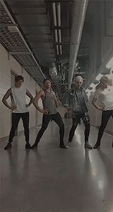 I saw this on musical.ly and kinda had a heart attack! <<< if you go watch the whole thing you'll get to see how truly uncoordinated they are lol