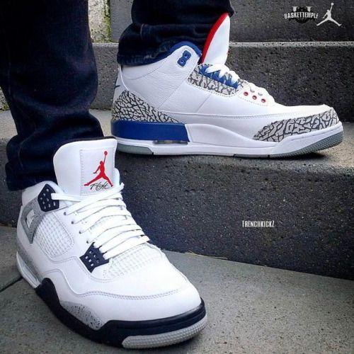 http://SneakersCartel.com True Blue 3s or White Cement 4s?  Photo Cred:... #sneakers #shoes #kicks #jordan #lebron #nba #nike #adidas #reebok #airjordan #sneakerhead #fashion #sneakerscartel http://www.sneakerscartel.com/true-blue-3s-or-white-cement-4sphoto-cred/