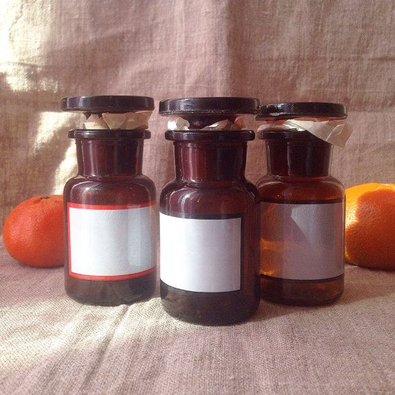 Vintage Apothecary Bottles/Amber Glass by SovietHardware on Etsy