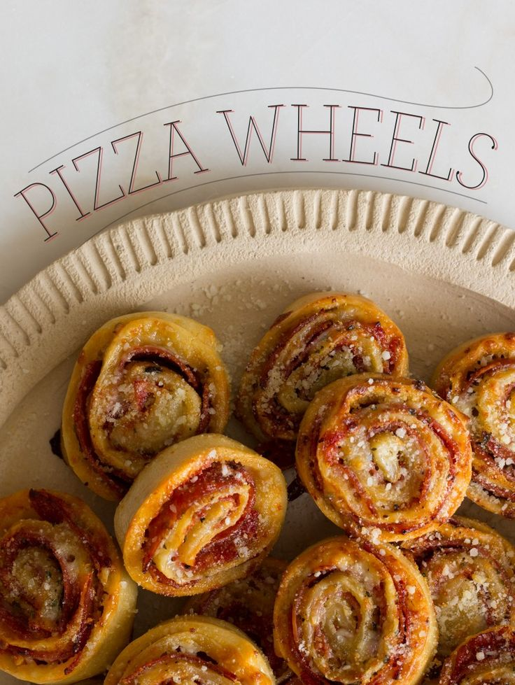 A perfect snack for the big game: pizza wheels. Mmm!