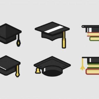 De Graduación, Sombrero De, Dibujos Animados, Sombreros, Birrete, Logotipos, Graduation, Hat, Cartoon