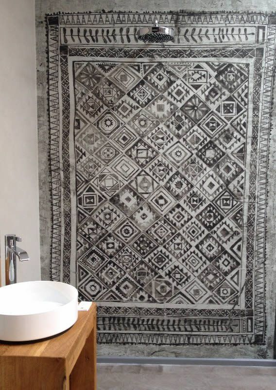 wasserfeste tapete dusche bonn badezimmer in 2019. Black Bedroom Furniture Sets. Home Design Ideas