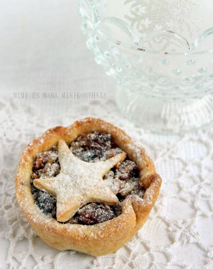 Angol karácsonyi gyümölcsös pite mince pie