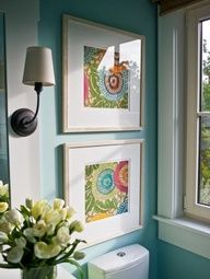 Framed fabric! Cheap idea for walls  Image Source