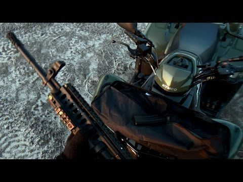 ATV Rider shoots AR15 - M4 carabine on ATV ride - YouTube