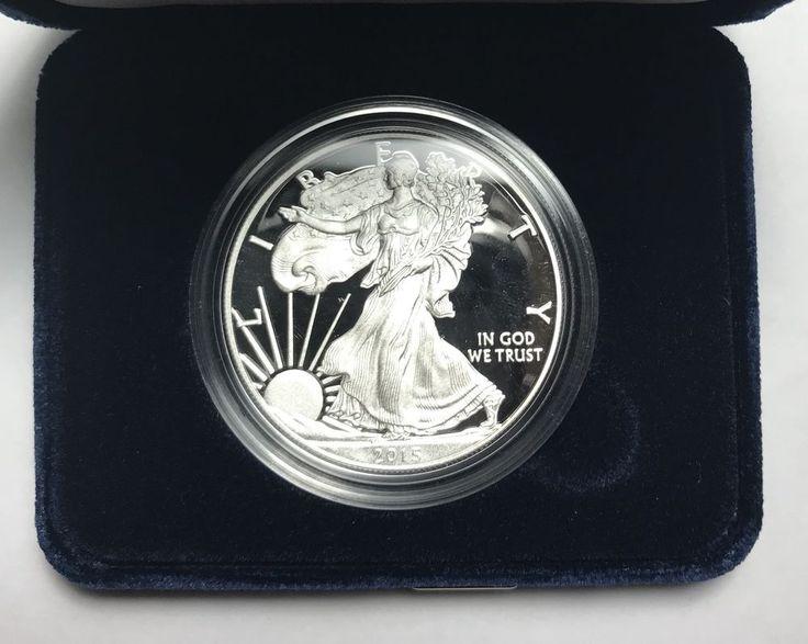 2015-W Proof Silver Eagle 1 Oz .999 American Dollar Coin w/ Box & COA  | eBay