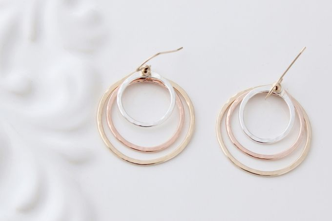 Trilogy Hoops Pink Gold, Yellow Gold, Silver by Facets Jewelry for sale on http://hellopretty.co.za