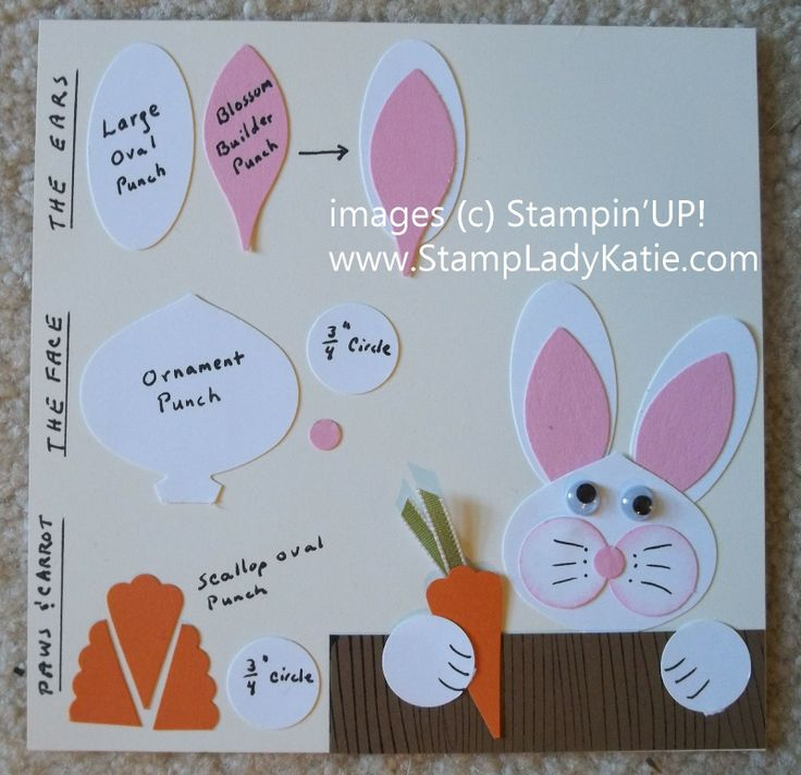 How to make the punch art Easter Bunny