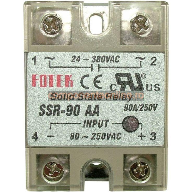 Releu Solid State, 90A, 24-380VAC SSR-90 AA, Fotek - 128519