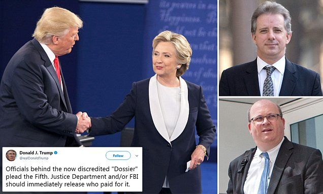 Hillary Clinton's campaign paid for 'dirty dossier' on Trump
