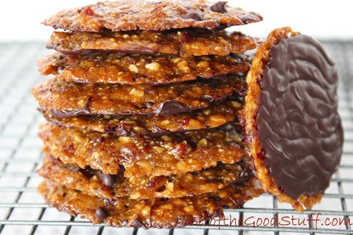Vegan Florentines (Gluten Free Option)