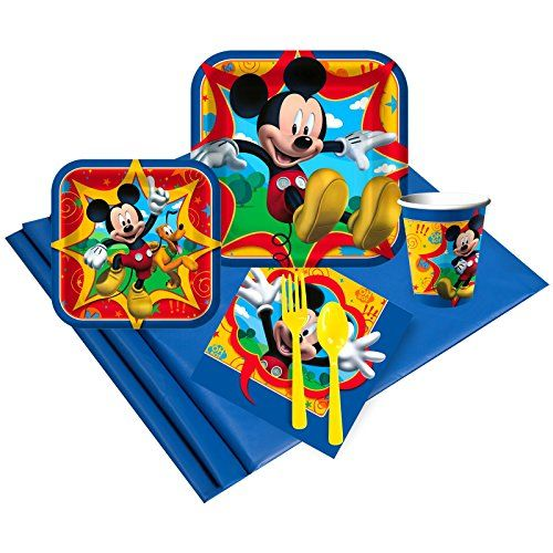 Disney Mickey Mouse Party Supplies - Party Pack for 16 by BirthdayExpress
