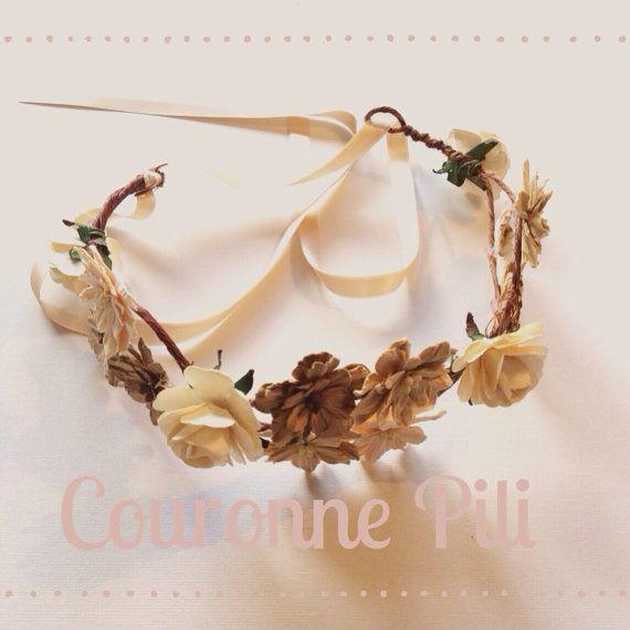 Couronne Pili handmade esprit bohème