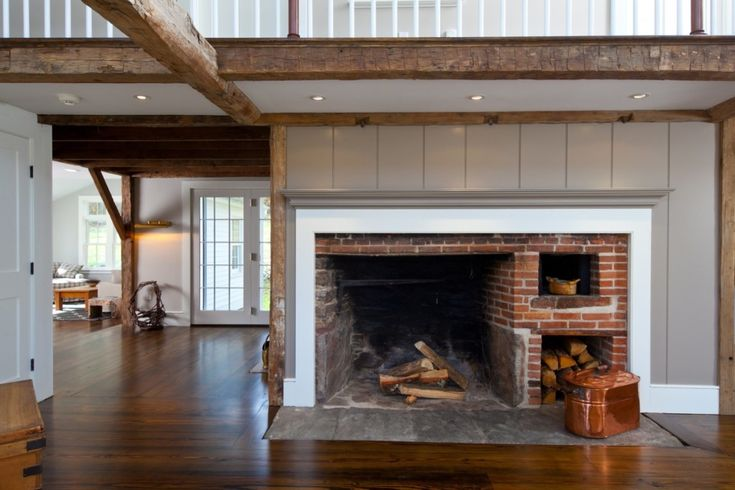 I love that fireplace.  House of the Week: A Rebuilt, 255-Year-Old Farmhouse | Zillow Porchlight