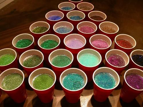 sparkly beer pong? SIGN ME UP FOR THIS SHIT RIGHT NOW.