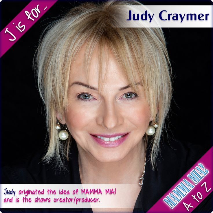 J is for Judy Craymer  In 2002, Judy was presented with a Woman of the Year Award in recognition for her international success with MAMMA MIA!  In the Queen's birthday honours list of 2007, she was honoured with an MBE for her contribution to the music industry.  In 2008, Judy produced MAMMA MIA! The Movie which went on to become the highest grossing live-action musical film worldwide  In 2010, The Breast Cancer Research Foundation presented Judy with its Humanitarian Award for her…