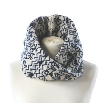 Stich Mi Lane Snood Cream & Navy