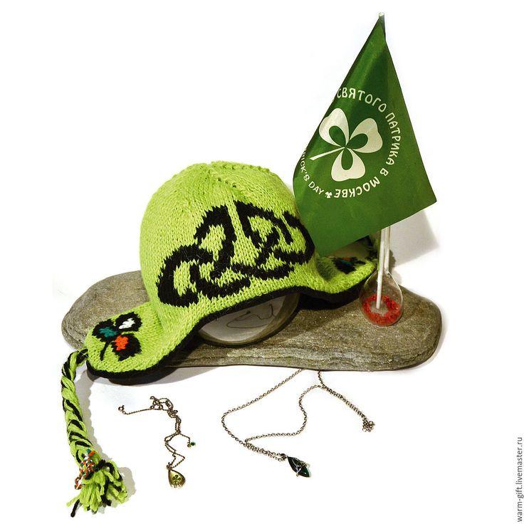 Купить Шапка Руны и трилистник-1 - ярко-зелёный, ирландия, день Святого Патрика