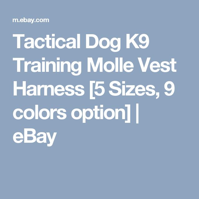 Tactical Dog K9 Training Molle Vest Harness [5 Sizes, 9 colors option] | eBay
