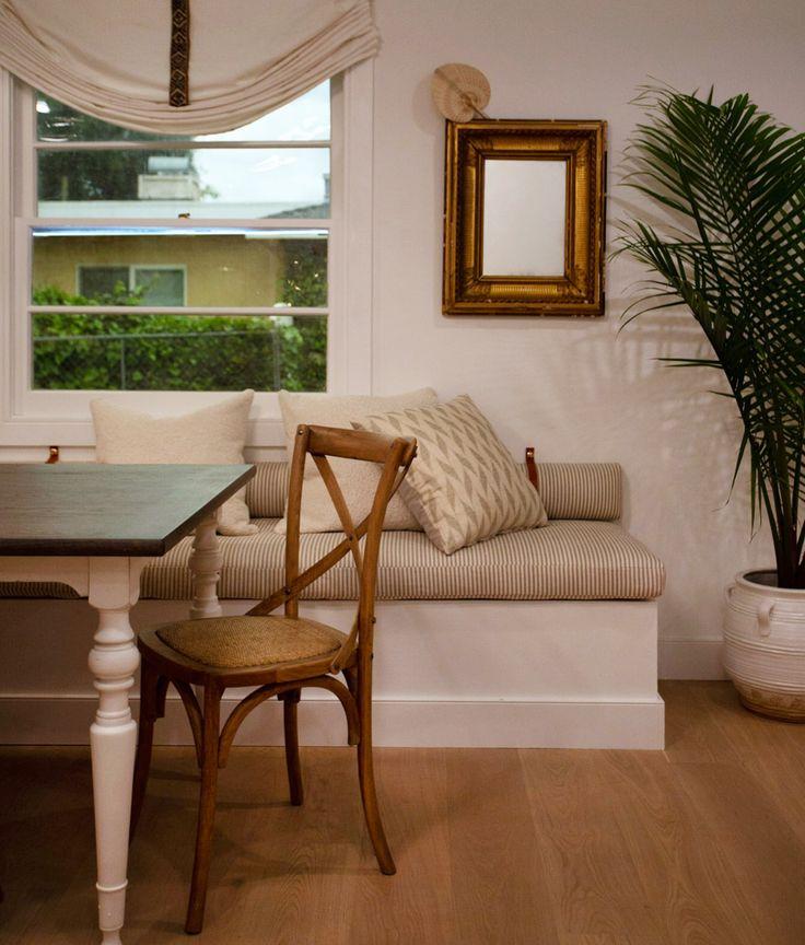 Leather straps on banquette | Furniture, Home decor ...