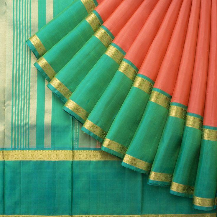 Kanakavalli Handwoven Kanjivaram Silk Sari 1015024 - Brands / Kanakavalli - Parisera
