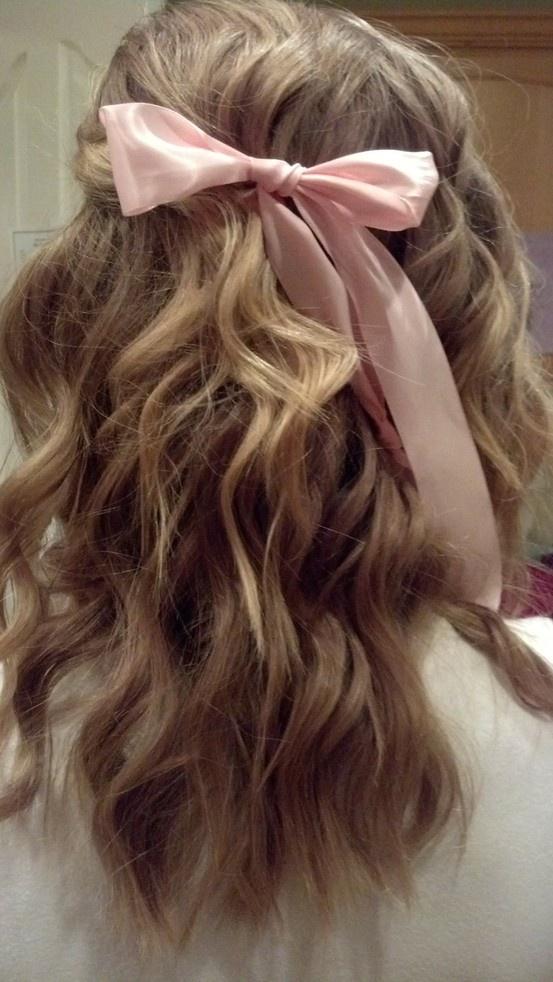 hair bows in curly hair - photo #38