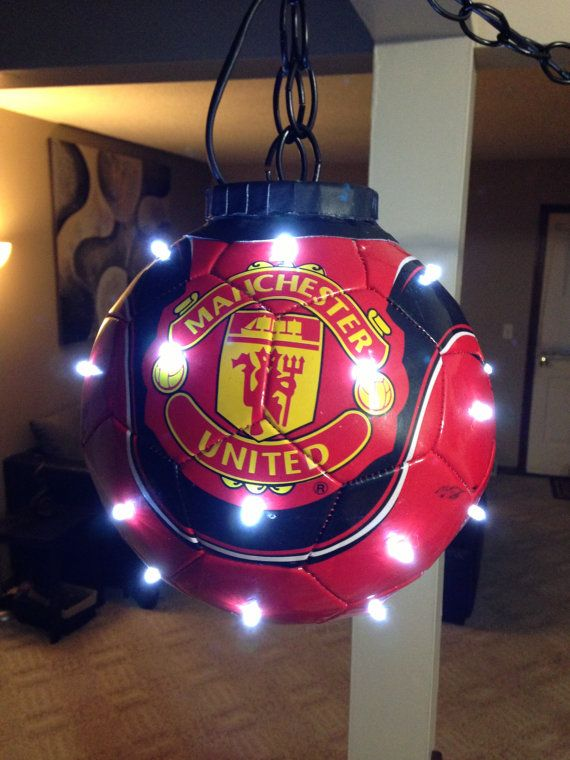"Manchester United Real soccer/ football LED would be great for a sports room, boys room, or ""man cave"""