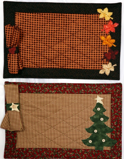 Autumn and Winter Placemat and Napkin