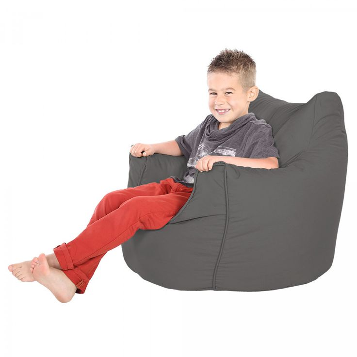 Comfy Childrens Armchair Grey Beanbag