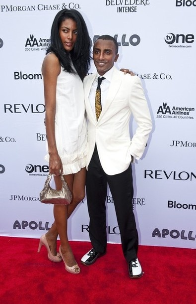 Celebrity chef Marcus Samuelsson and his wife Maya Haile arrive at Apollo Theater's Spring Gala Benefit honoring Stevie Wonder in New York City June 13, 2011